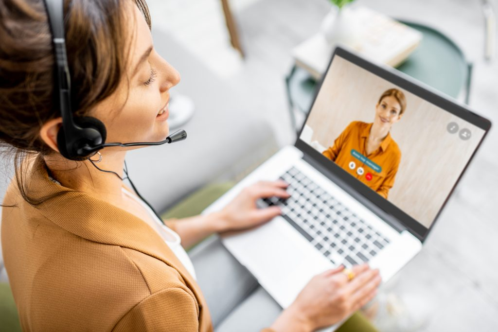 conference call between two adult women
